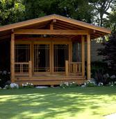 San Marino Mid-Century Modern Residence - Japanese Tea House